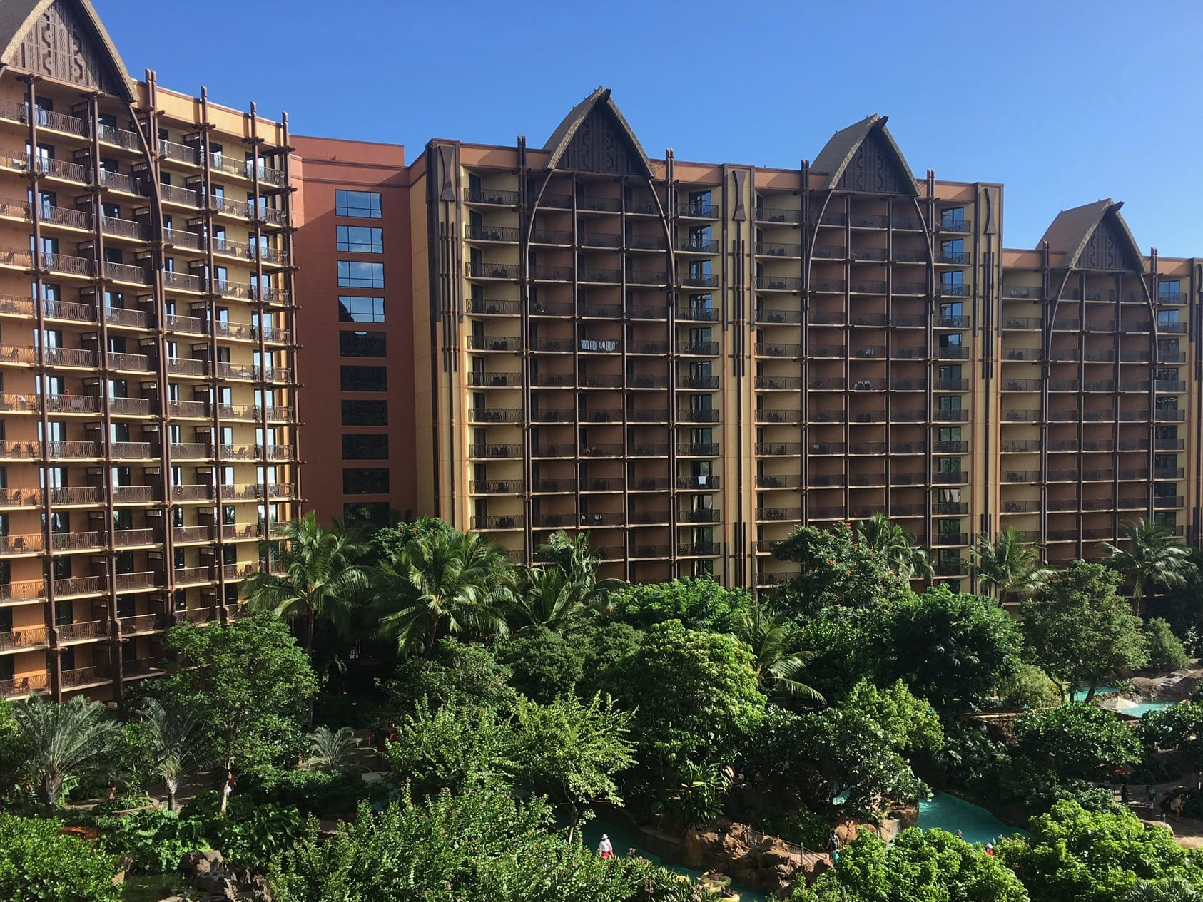 Buildings at Aulani, A Disney Resort and Spa in Hawaii