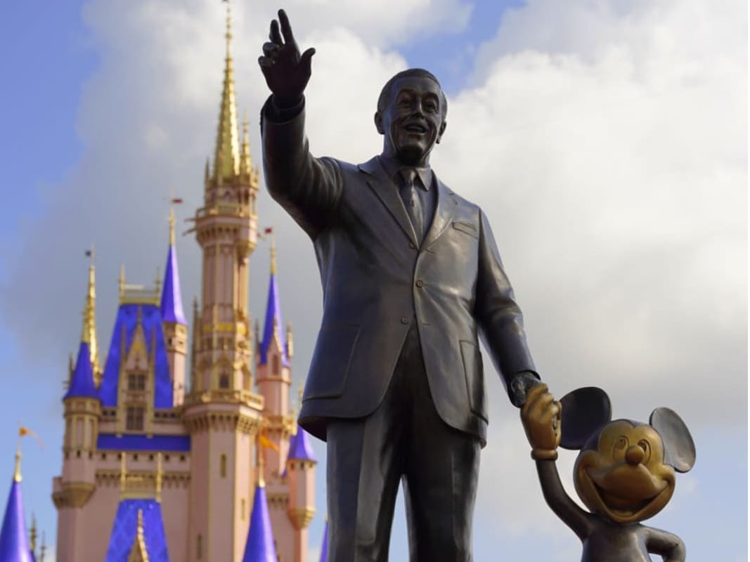 Statue in front of Cinderella Castle at Walt Disney World
